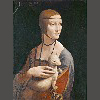 达芬奇 抱银鼠的女人 39.3X53.4公分